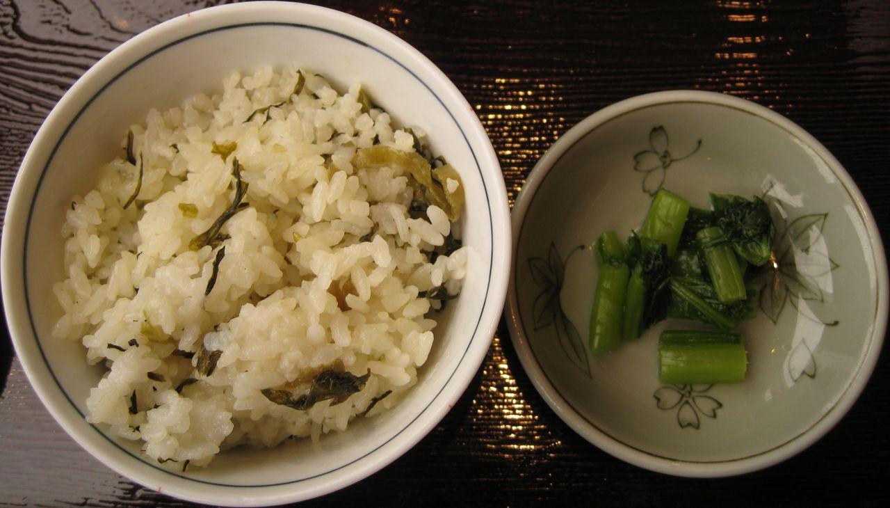 菜飯・野沢菜