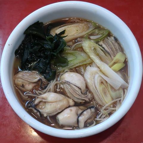 牡蠣そば(武蔵庵)1125