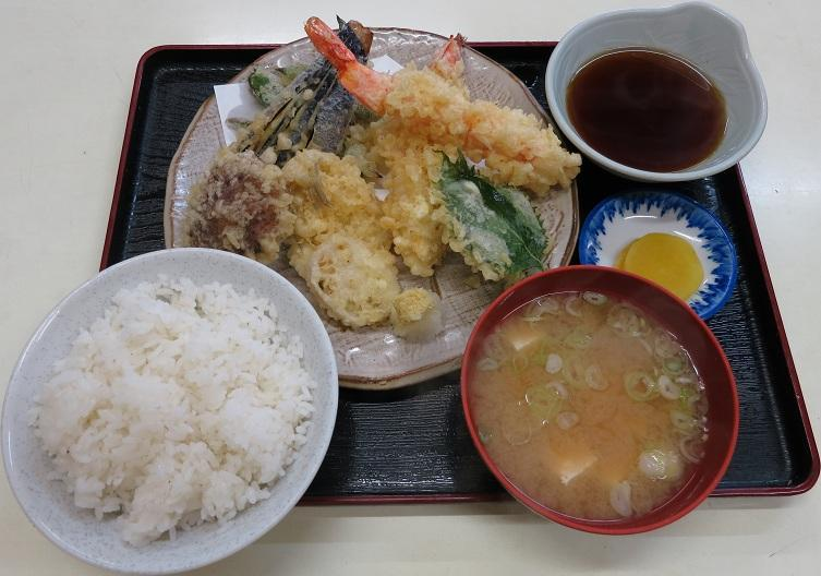 上天ぷら定食1,800円
