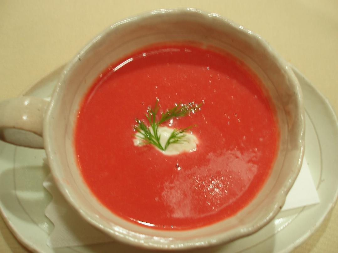 赤カブのクリームスープ