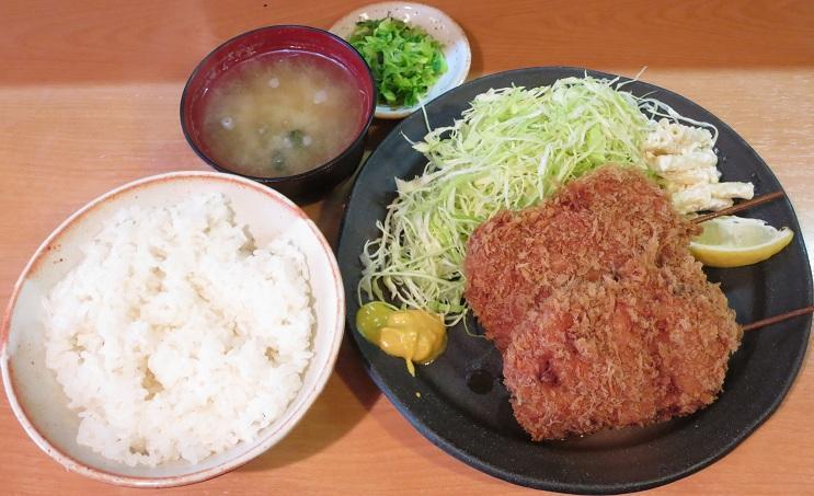ヒレ串カツ定食1,200円