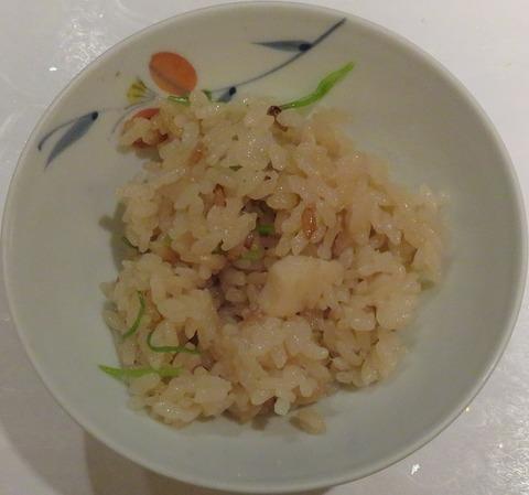 帆立御飯(釜炊)②(花鳥)