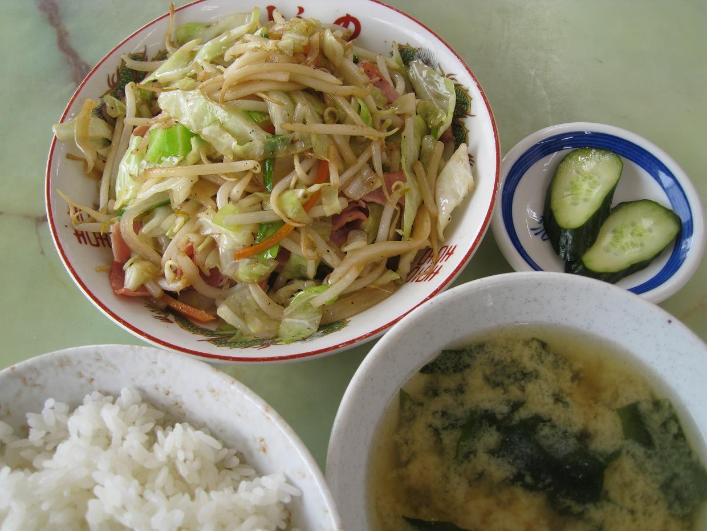 ベーコン野菜炒め定食