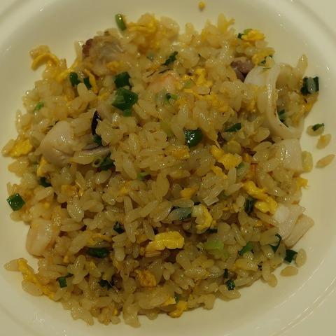 海の幸と海老味噌炒飯(南園)