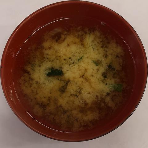 味噌汁(北区役所食堂)