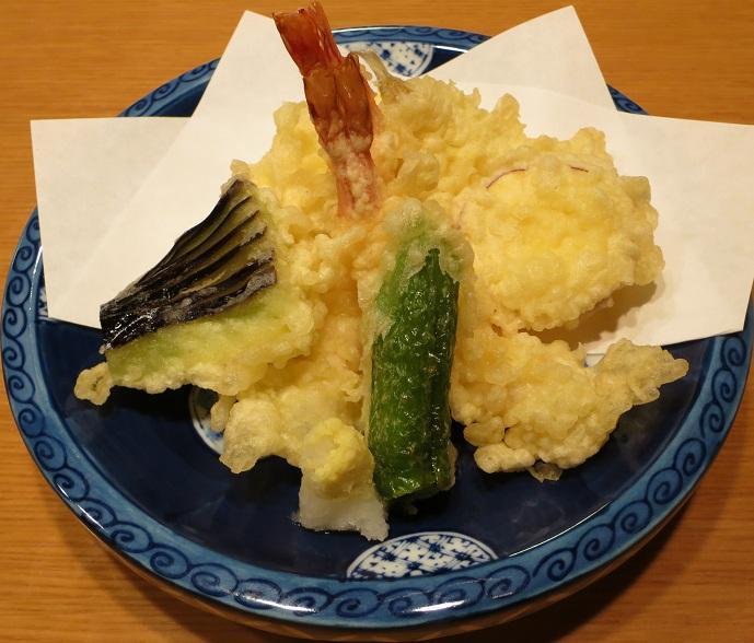 天ぷら盛合せ(竹)1600円