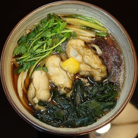 牡蠣饂飩(篠新)1400