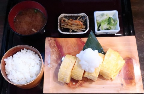 出汁巻玉子定食(卵道)1100