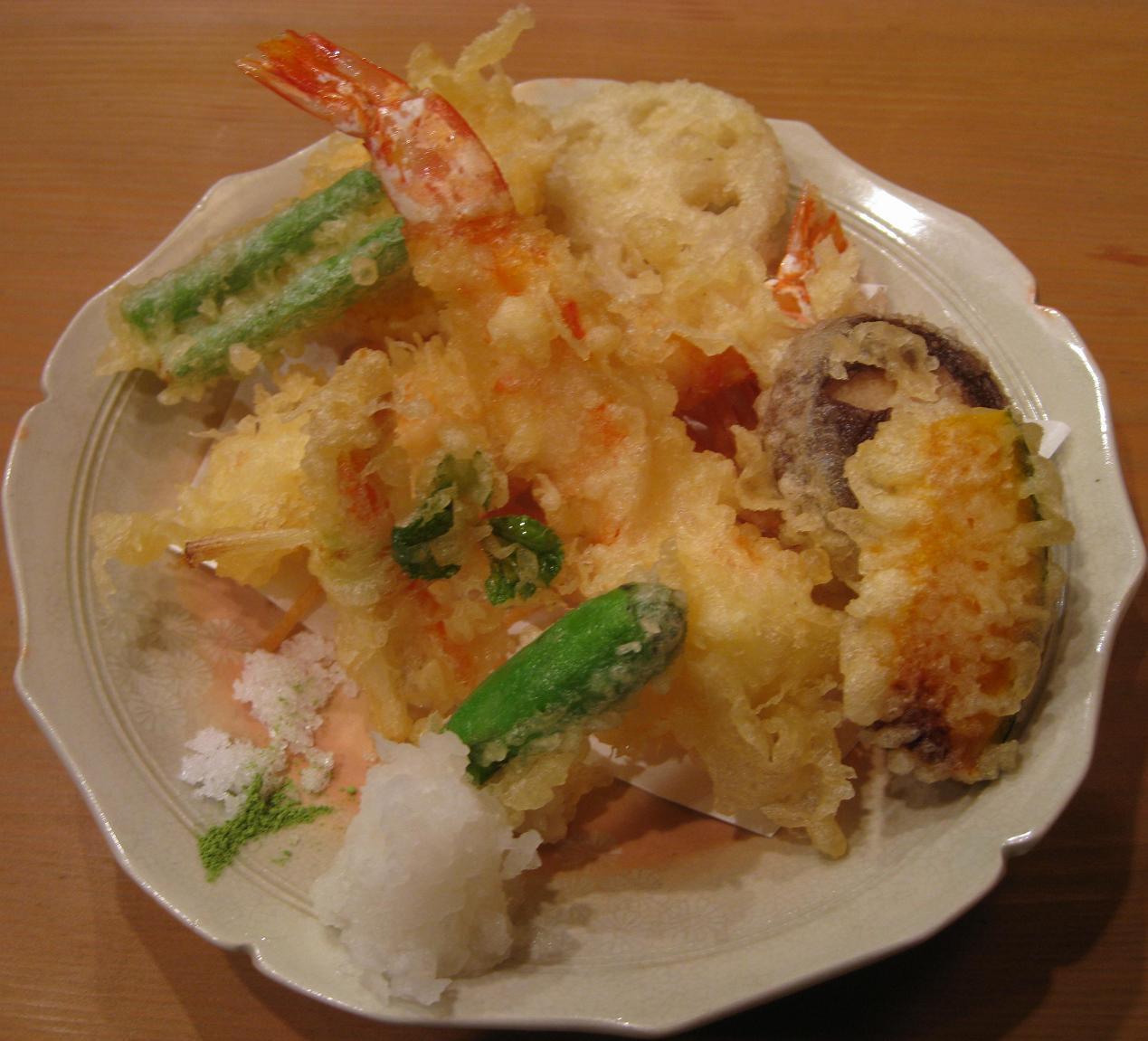 車海老と野菜の天麩羅
