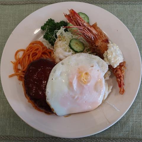ハンバーグ&エビフライ定食(じゃがいも)946