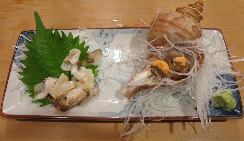 つぶ貝刺身