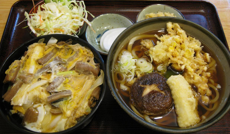 穴子丼セット+お好み天ぷら3種