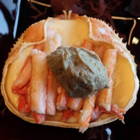 蟹甲羅鉄板焼(加賀)