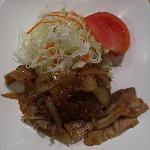 生姜焼定食(銀杏の木)