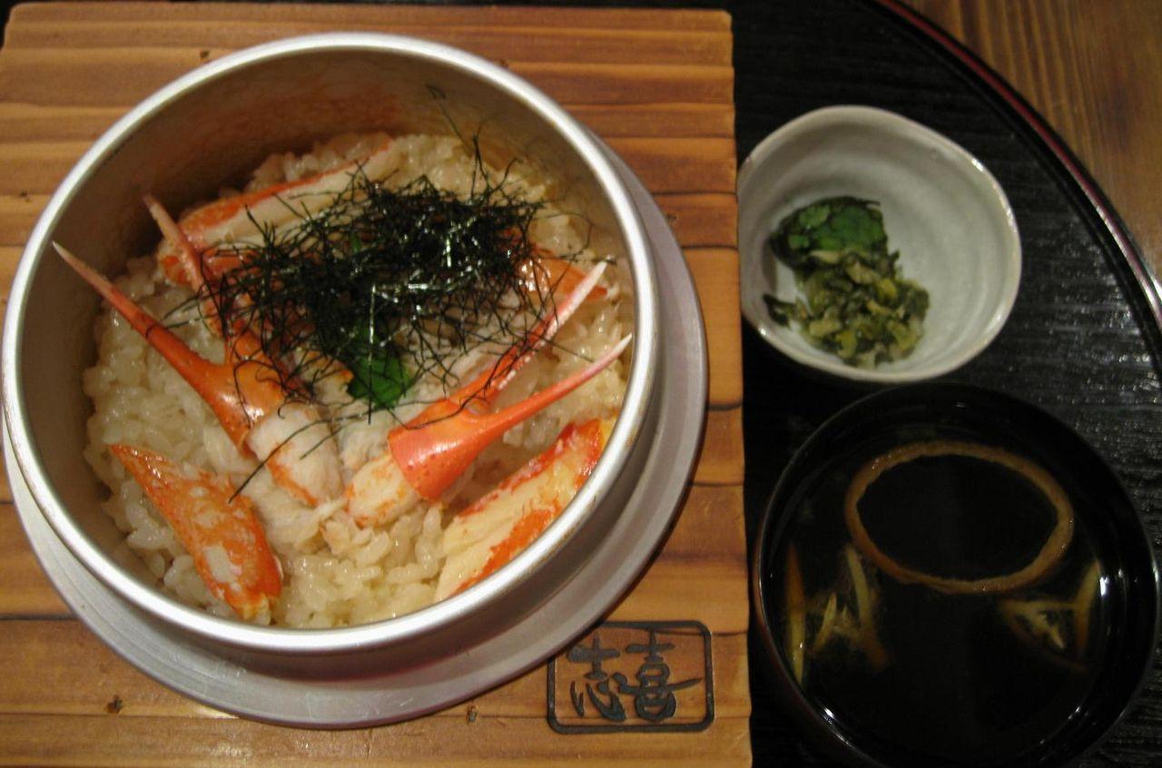 タラバ蟹釜飯