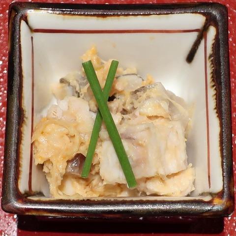 焼き茸と百合根の金山寺味噌和え(蒼樹庵)