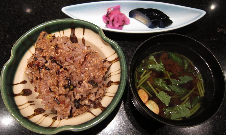 十穀米と佃煮昆布の焼御飯