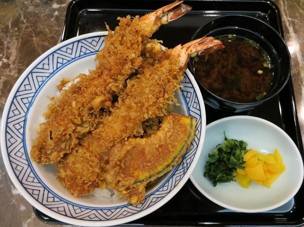 大海老天丼+赤出汁