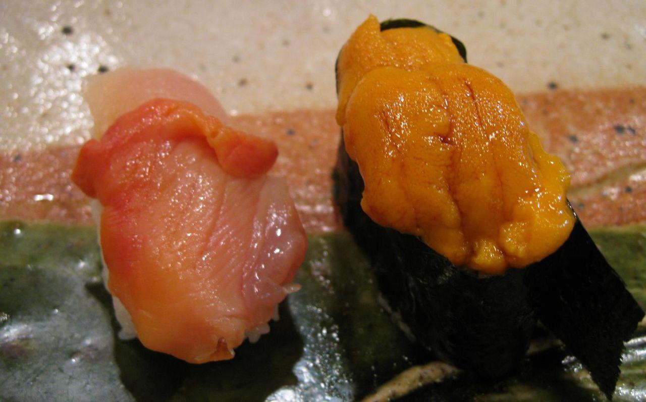 赤貝・海胆