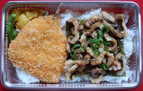 アジフライ煮穴子弁当(魚串)900