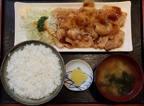 豚ロース生姜焼定食(引田屋)850