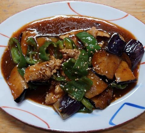 ナスとピーマンの味噌炒め(むさしや)550