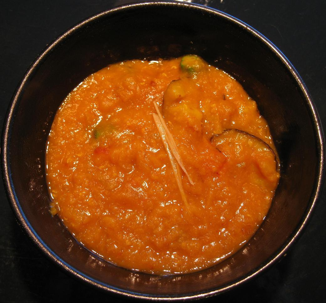 レンズ豆とオクラのカレー