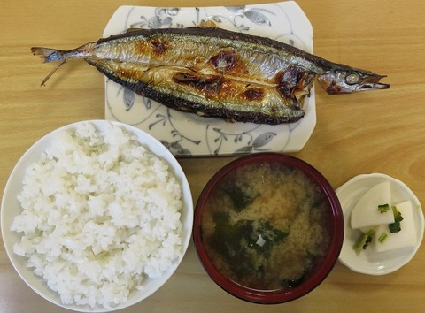 サンマ定食(南口食堂)580