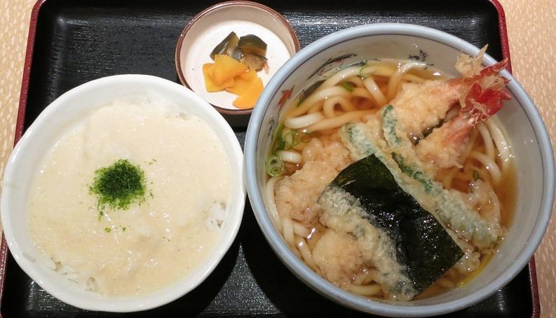 天ぷらうどん+ミニとろろ飯