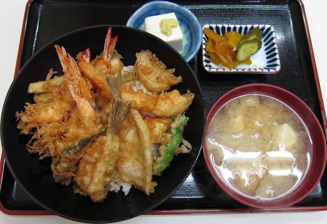 上天丼+味噌汁