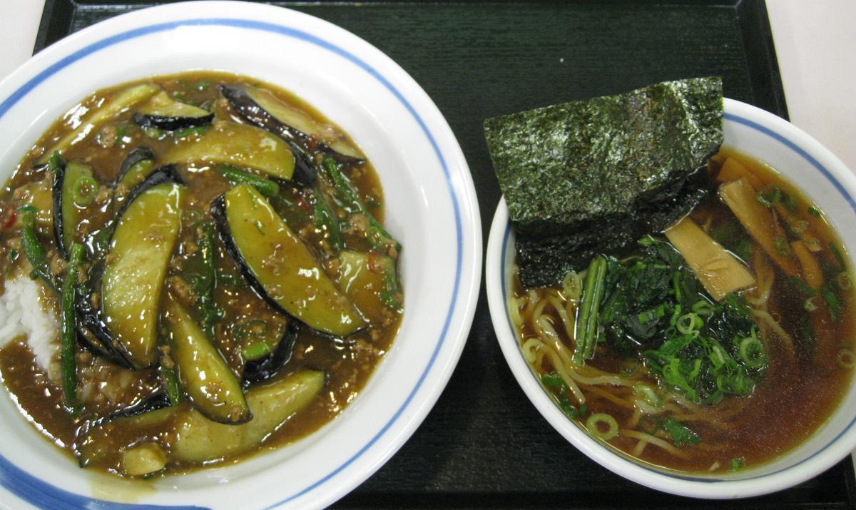 マーボナス丼セット