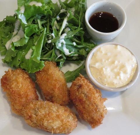 カキフライ定食(つばき食堂)1100