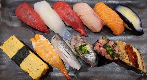 ランチにぎり(亀寿司)1058