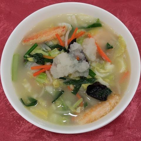 海の幸と野菜の汁そば(南園)