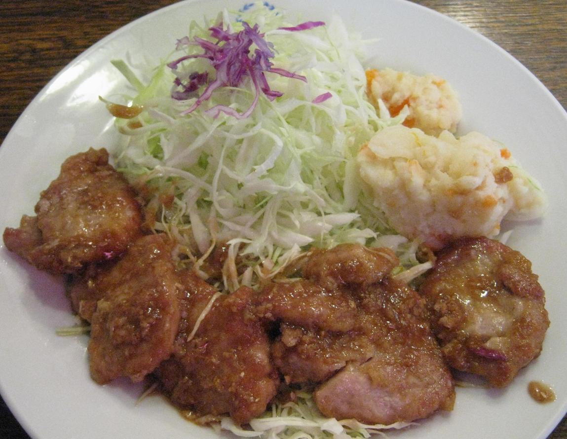 ヒレ生姜焼き