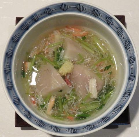 海老芋の蟹餡かけ(紋屋)1080