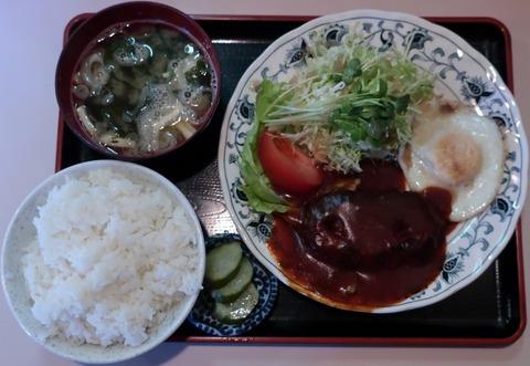 ハンバーグ定食(ジロー)800