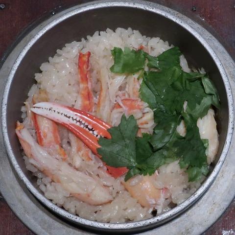 ズワイ蟹釜飯(五色)1280