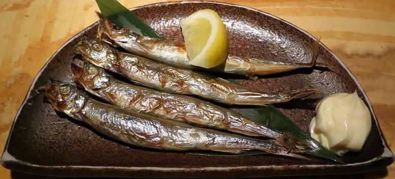 子持ち柳葉魚炙り焼き