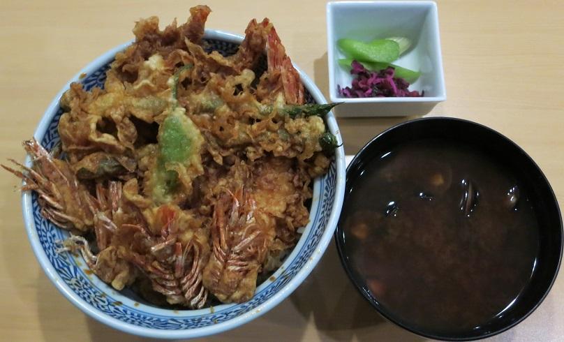 車海老天丼+赤出汁