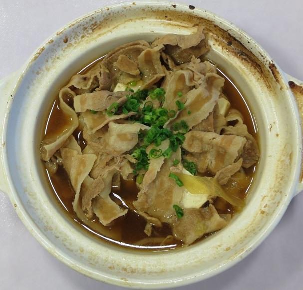 豚の肉豆腐鍋アップ