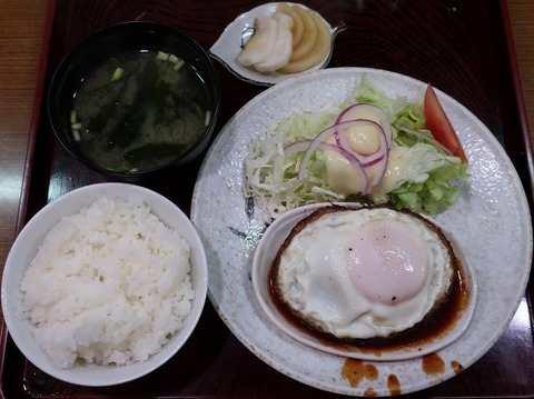 ハンバーグ定食(千成亭)600