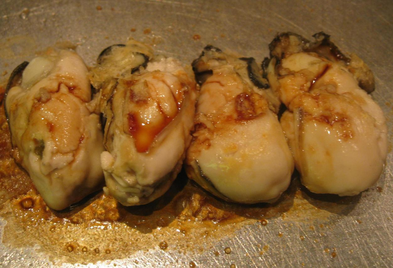牡蠣の醤油焼