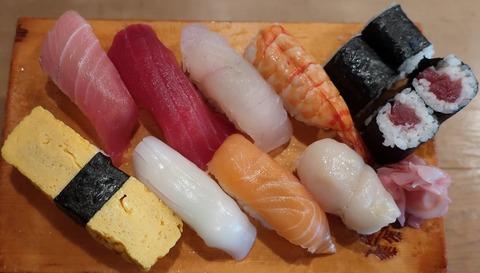 並にぎり(旭寿司)1100