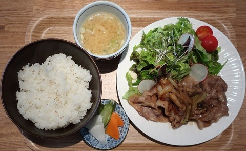 生姜焼定食(メイカフェ)