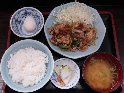 豚生姜焼定食(玉河)780