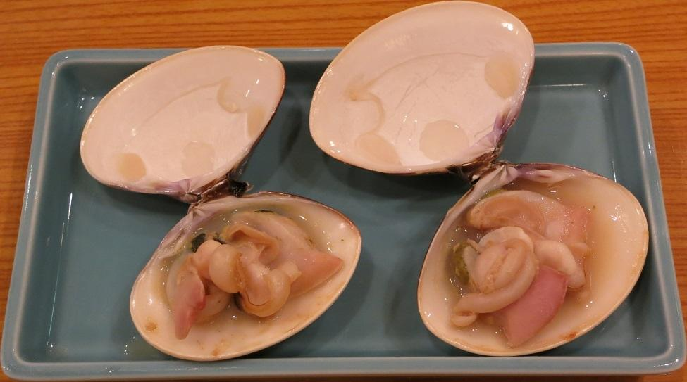 天然蛤塩焼