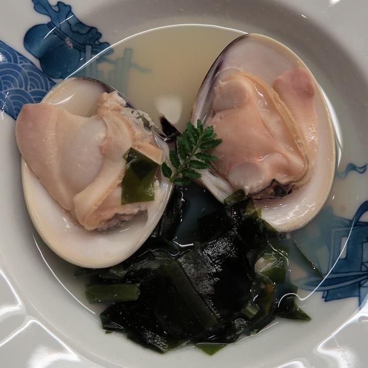 大蛤と三陸若布の潮煮