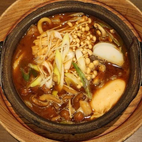 4種のキノコ入り味噌煮込うどん(山本屋)1674