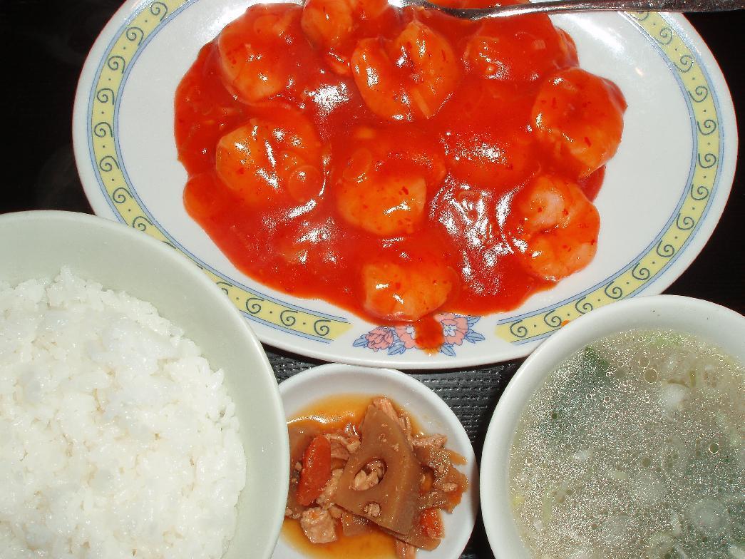 エビチリ定食
